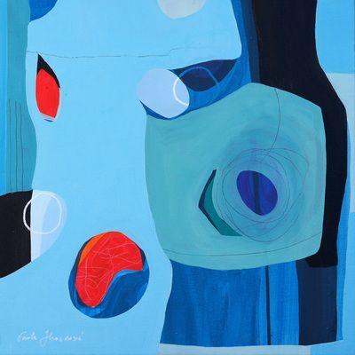 """""""Up"""" by Pavla Hroudová, oil on canvas, 40x40cm"""