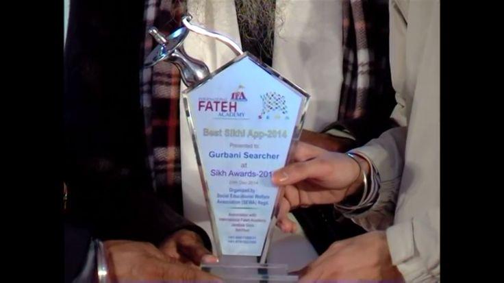 Best Sikhi App 2014 .. Gurbani Searcher .. Organised By S.E.W.A Organisation on 29 Dec 2014 ( Sikh Award - 2014 )