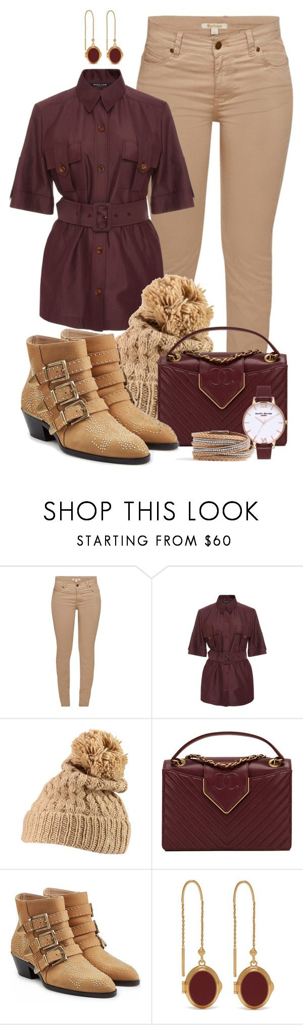 """""""Matching Hat and Ankle Boots"""" by tlb0318 ❤ liked on Polyvore featuring Barbour, Derek Lam, Polo Ralph Lauren, Chanel, Chloé, Mulberry and Olivia Burton"""