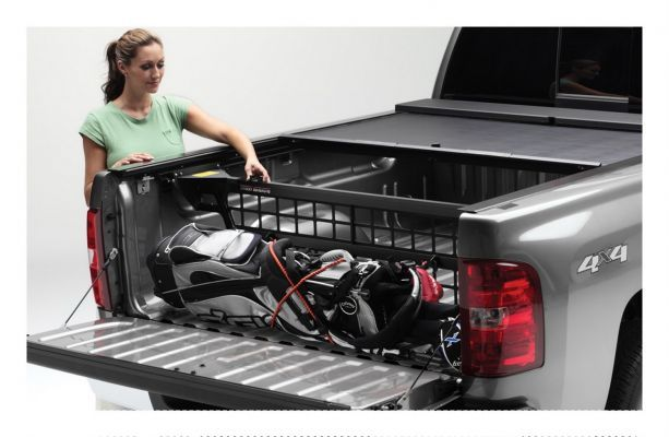 Roll N Lock Cm402 Cargo Manager Rolling Truck Bed Divider Works Only With Roll N Lock Covers For 2019 Ram 1500 Truck Bed Truck Bed Covers Tonneau Cover Ford