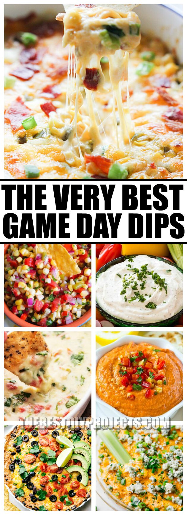 For all of your game day parties, you need The Very Best Game Day Dips. With amazing flavors and easy preparation, these dips are sure to be a touchdown!