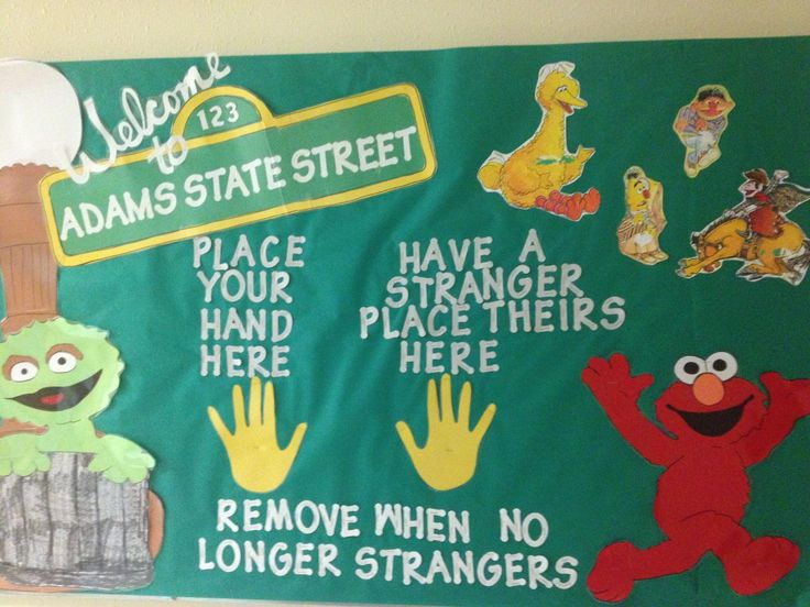 My first RA bulletin board.  Goes with my Sesame Street door decs.   Turned out really great.   Will be hard to follow:)