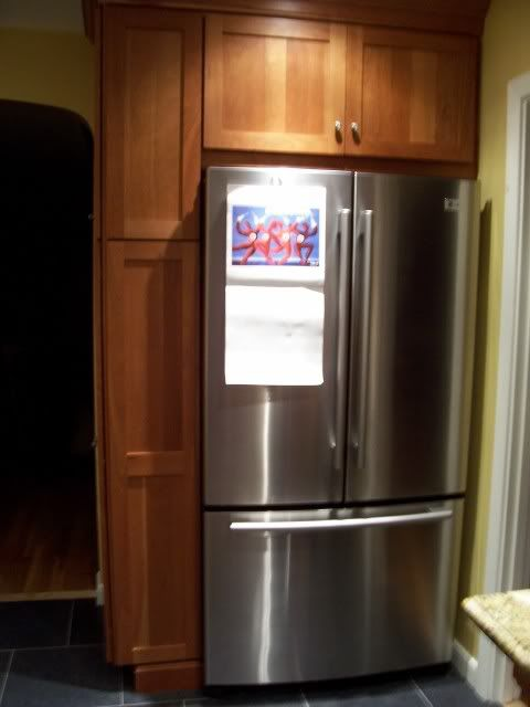Fridge Between Wall And Pantry Tips Kitchen Ideas