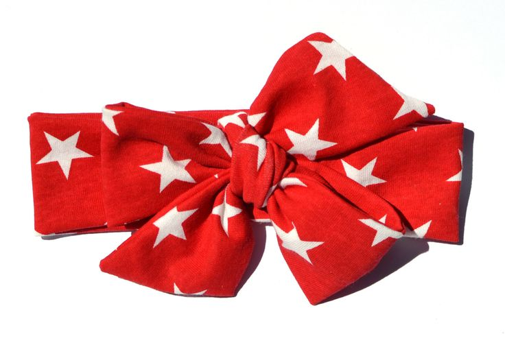 Fourth of July Bow Tied Headwrap; Red & White Star Stretch Cotton Fabric Headwrap; Fabric Bow Headband; 4th of July Headband; 4th of July by youmeandourbees on Etsy https://www.etsy.com/listing/231336664/fourth-of-july-bow-tied-headwrap-red