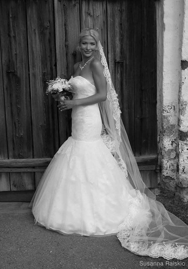 Wedding dress made by me. The most beautiful bride Fanny!