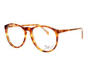 brown round glasses - vintage glasses - tortoise shell eyeglasses - 80s prescription eye glasses frames - women and mens glasses - shell