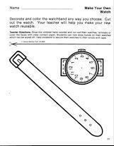 horloge knutselen met kleuters