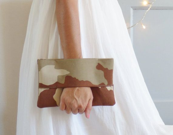 Pochette tissu camouflage militaire sable kaki par mylmelo sur Etsy