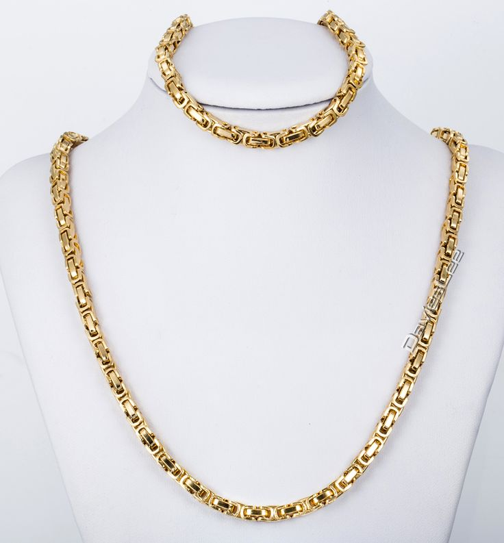 Find More Jewelry Sets Information about CUSTOMIZE SIZE 5MM Stainless Steel Byzantine Box Necklace Bracelet Chain JEWELRY SET  Mens Chain Necklace Wholesale KS48,High Quality necklaces toronto,China necklace rope Suppliers, Cheap necklace zipper from Davieslee Store on Aliexpress.com