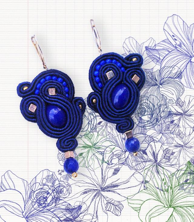 Little Cobalt Blue soutache earrings ;)