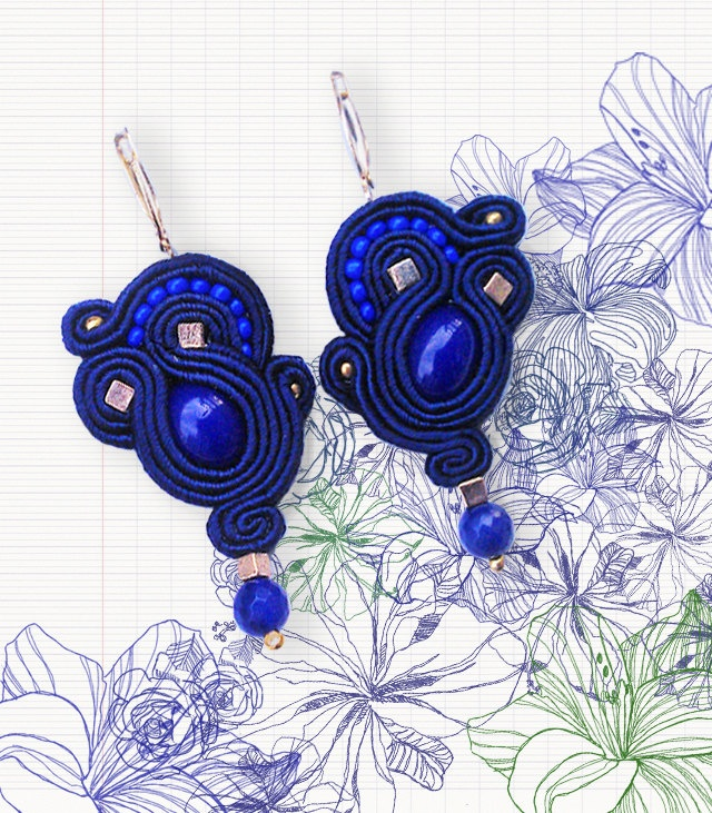 Little Cobalt Blue soutache earrings ;)