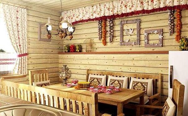 кухня в русском стиле. стиль кантри в интерьере
