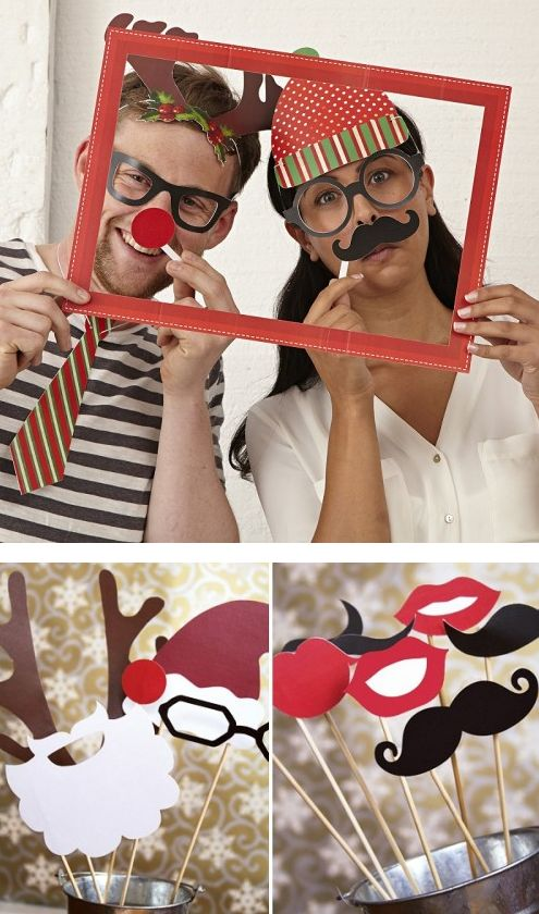 Photomaton de Noël en DIY  http://www.homelisty.com/deco-de-noel-2015-101-idees-pour-la-decoration-de-noel/                                                                                                                                                     Plus