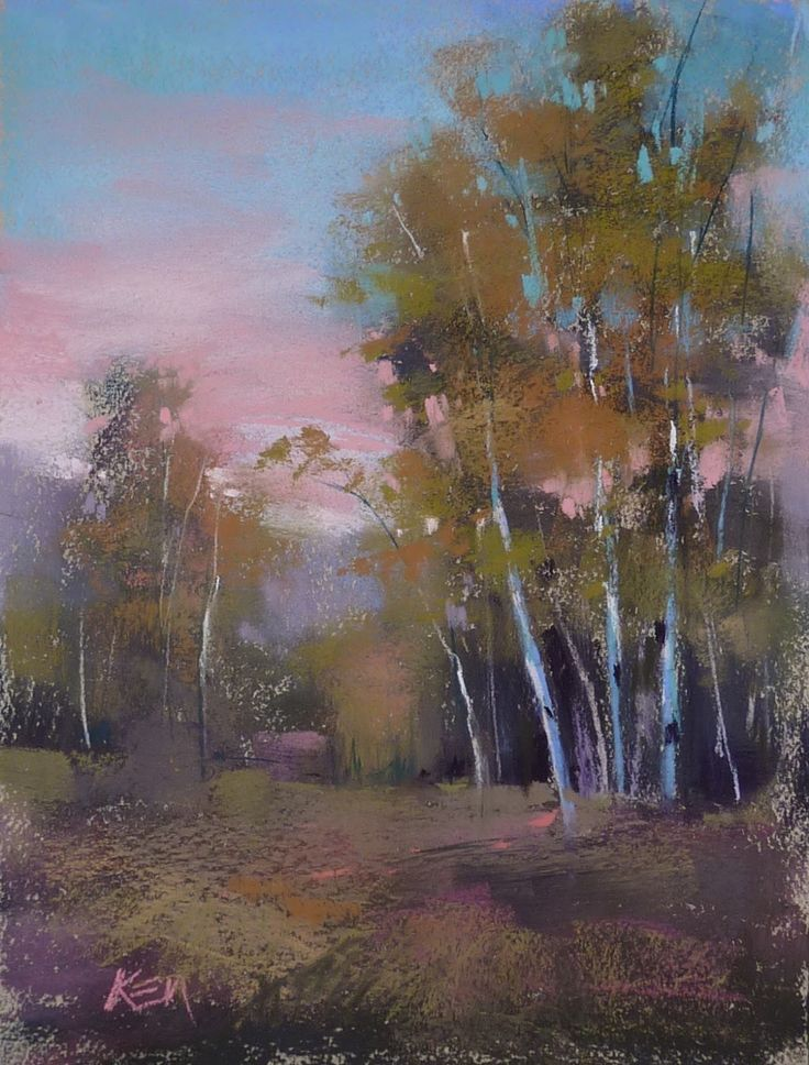 'Sunset Walk' 9x12 pastel ©Karen Margulis available $155 I finally did it. I had time to do another Sunday Studio liv...