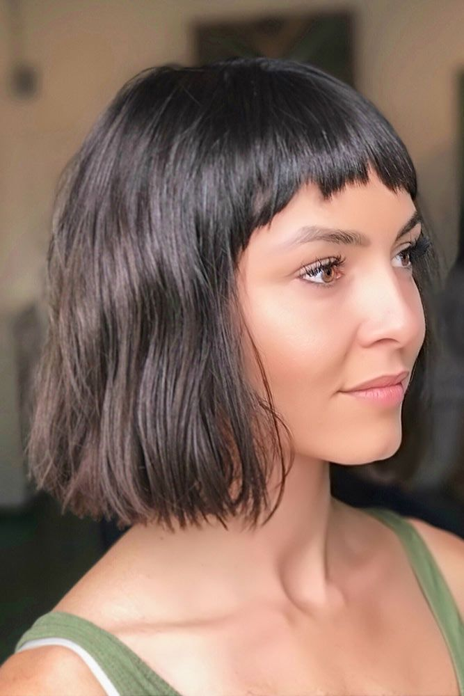 Let Short Bangs Adorn Your Life This Year Lovehairstyles Com Medium Hair Styles Hair Styles Short Hair With Bangs