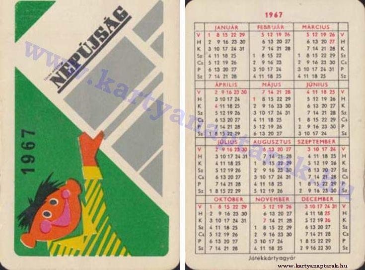 1967 - 1967_0121 - Régi magyar kártyanaptárak