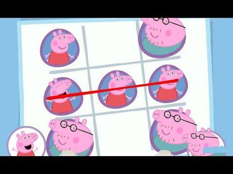 Мультик ИГРА Свинка Пеппа на русском игра крестики - нолики  Peppa pig g...
