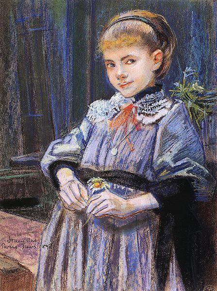 """Stanisław Wyspiański """"Portret dziewczynki"""", 1893 (Lwowska Galeria Sztuki)"""