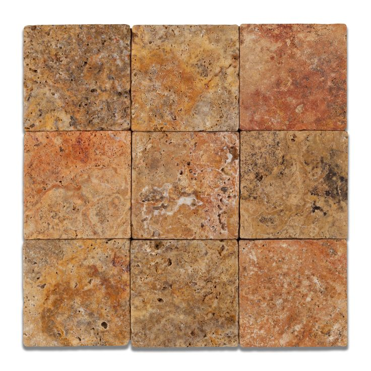 "Buy 4 X 4 Scabos Travertine Tumbled Field Tile Sample Product Attributes - Item: Premium (SELECT) Quality 4"" X 4"" SCABOS TRAVERTINE TUMBLED SQUARE FIELD TILE (LOOSE PIECES) - Dimensions (per piece): 4"