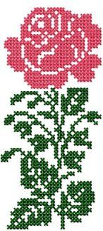 Cross Stitch 1 - Set 2 - Mehxs12 - Flowers - Designs - by Meh - Very Few Jump Stitches to None at All