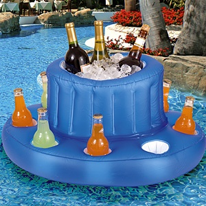 Inflatable POOL BAR?!?!! YES!