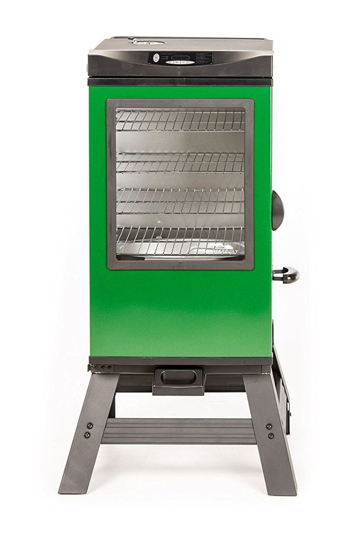 "4-Rack Digital Electric Smoker with Leg Kit Cover and Gloves, 30"", Green"