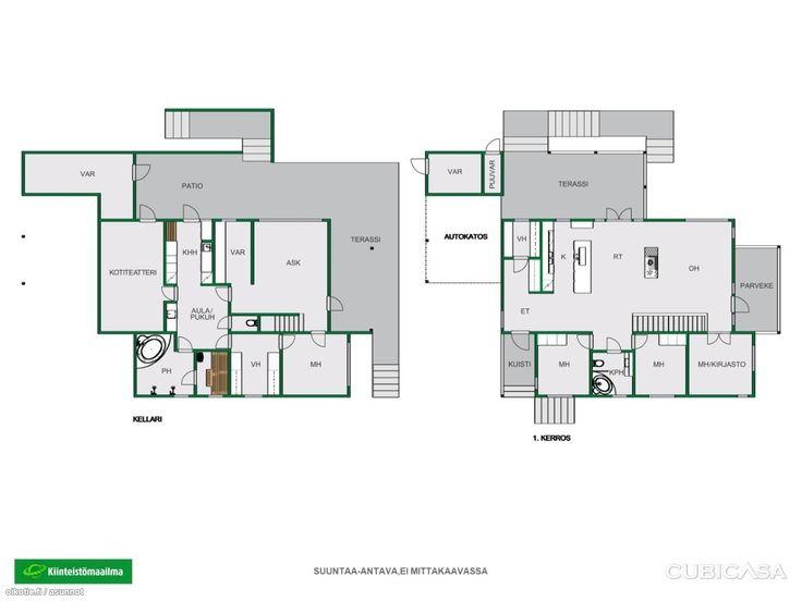 Arvokohde suositulla Metsolan asuinalueella. Mahtavat tilat isonkin perheen yhdessäoloon. Kokonaispinta-ala 288 m². Asuintilat ovat 2-tasossa. Yläkerrassa korkea avoin yhdistetty keittiö-ruokailutila-