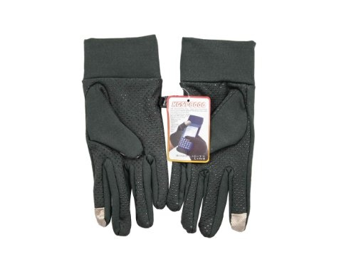 Features:  Comfortably Work Your Laptop Touch Pad, Mp3 Player, or Cell Phone with Warm Hands Works Well with Touch-screen Devices. Silicone Grip Pattern on Palm for Added Grip  Description:  Condition: 100% Brand New Material: Spandex Color: Black,Charcoal,Navy Safety Notices: Please do not use devices that may distract you while driving or operating heavy machinery.  Package Include:  One Pair Touch screen Spandex Gloves