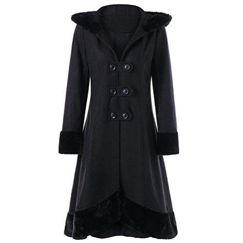 2c723a6e229c6 SHOBDW Manteaux Femme Hiver Chaud Casual Tops Blouson Tops ModeNoir S-XXL
