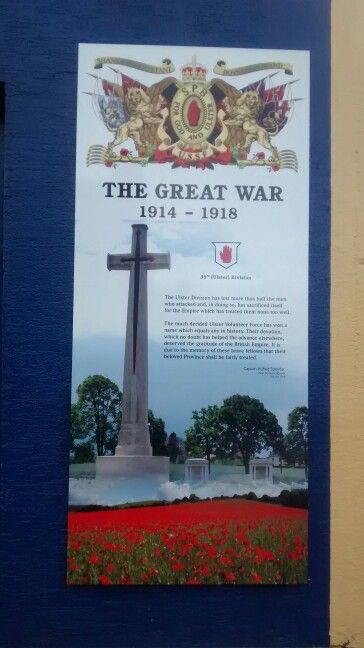 Painel Homenagem 1 Guerra Mundial Belfast UK 01/2017