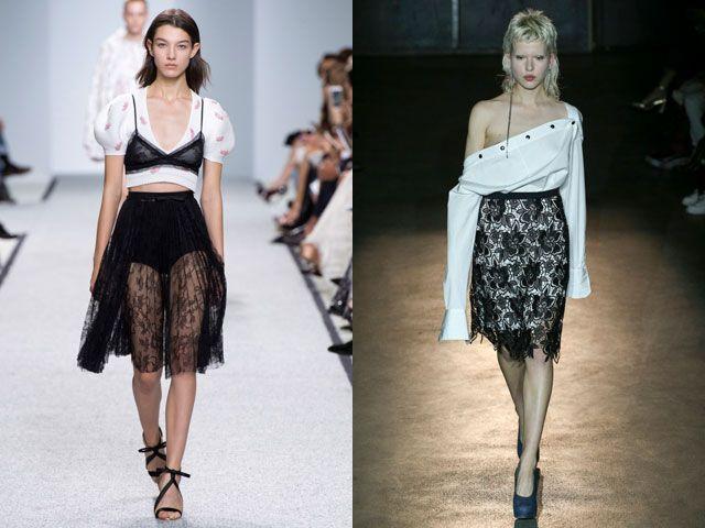 Модные ажурные и кружевные юбки сезона весна-лето 2017