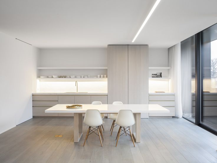 Obumex | Present-day Kitchen | White | Dining Table | Interior | Minimalistic