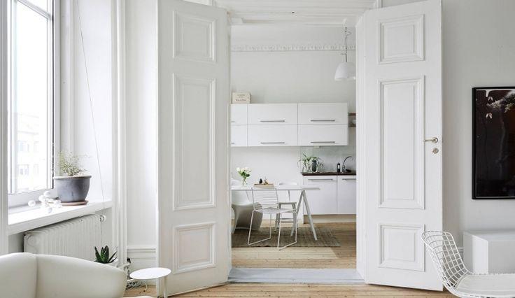 Neutraal kleurenpalet in een Zweeds huis
