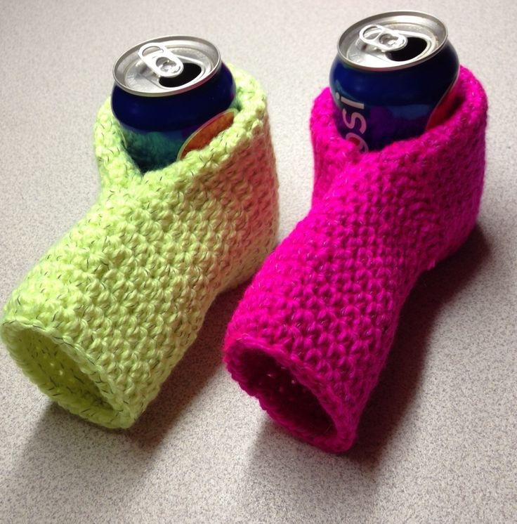 Reflective Beer/Hot drink mitts Crochet-cup cozy ...