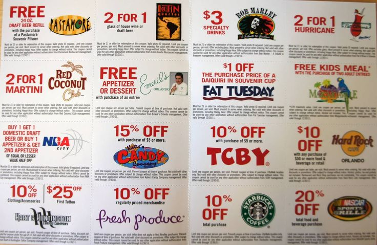 Coupon book orlando florida