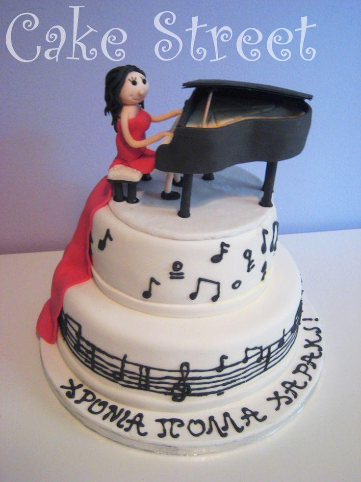 Piano Music Cake!