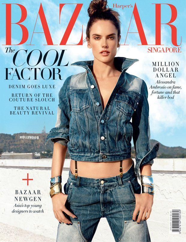 Alessandra Ambrosio is the Street Angel for Harper's Bazaar Singapore