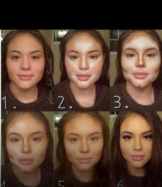 Contorno rosto redondo