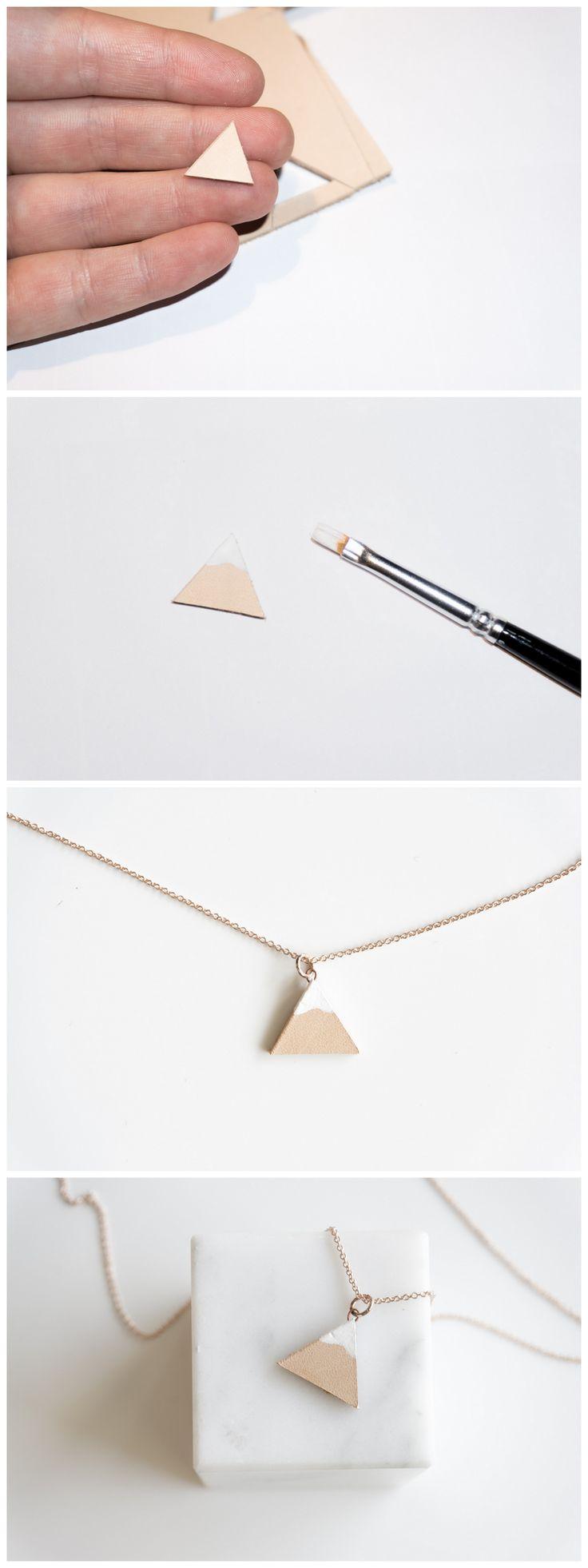 DIY Geschenkidee Weihnachten Bergkette aus Kupfer und Naturleder || DIY Christmas Gift Mountain Chain made of Leather and Copper