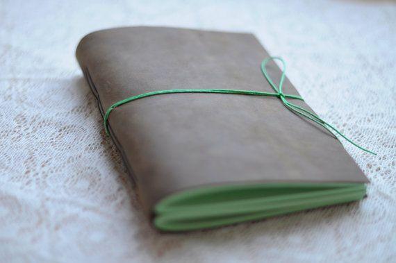 Leather Sketchbook or Notebook Leather vintage by pleguzova