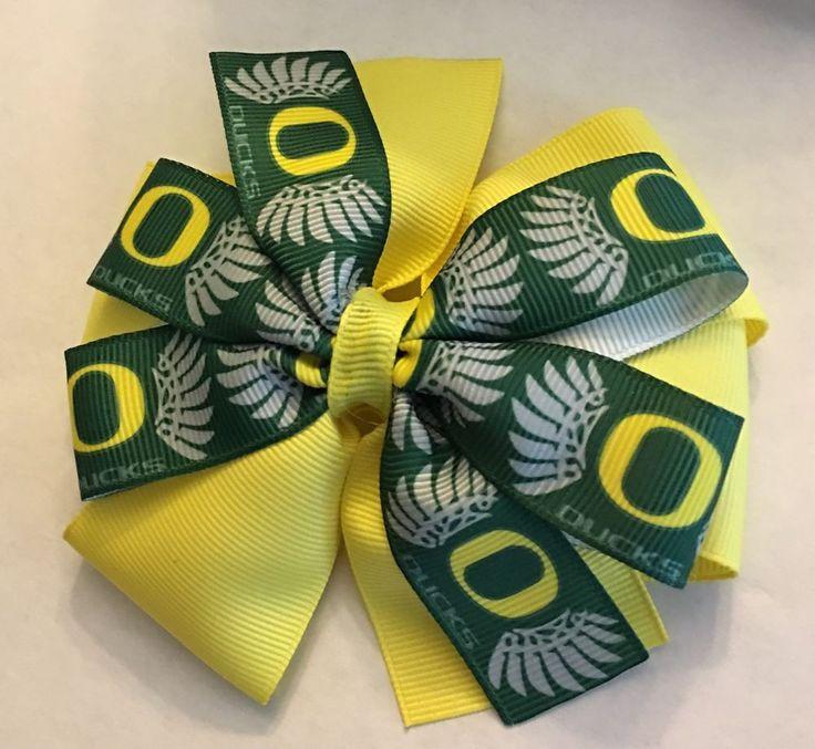 Oregon Ducks Inspired Girl's Baby Toddler Hair Bow Ducks Football Hair Bow Clip  | Sports Mem, Cards & Fan Shop, Fan Apparel & Souvenirs, College-NCAA | eBay!