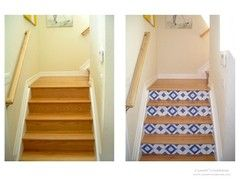 Use a vinyl wall covering on stairs