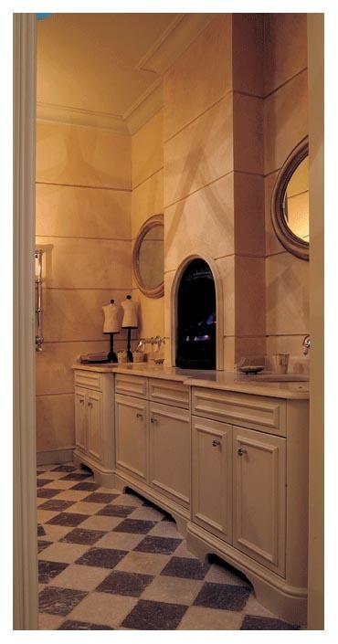 Stone effect bathroom   Bathroom mirror