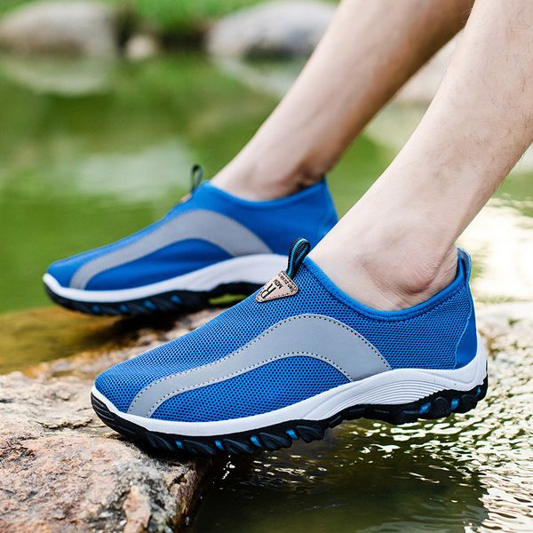 Men Breathable Mesh Hiking Climbing Outdoor Athletic Shoes