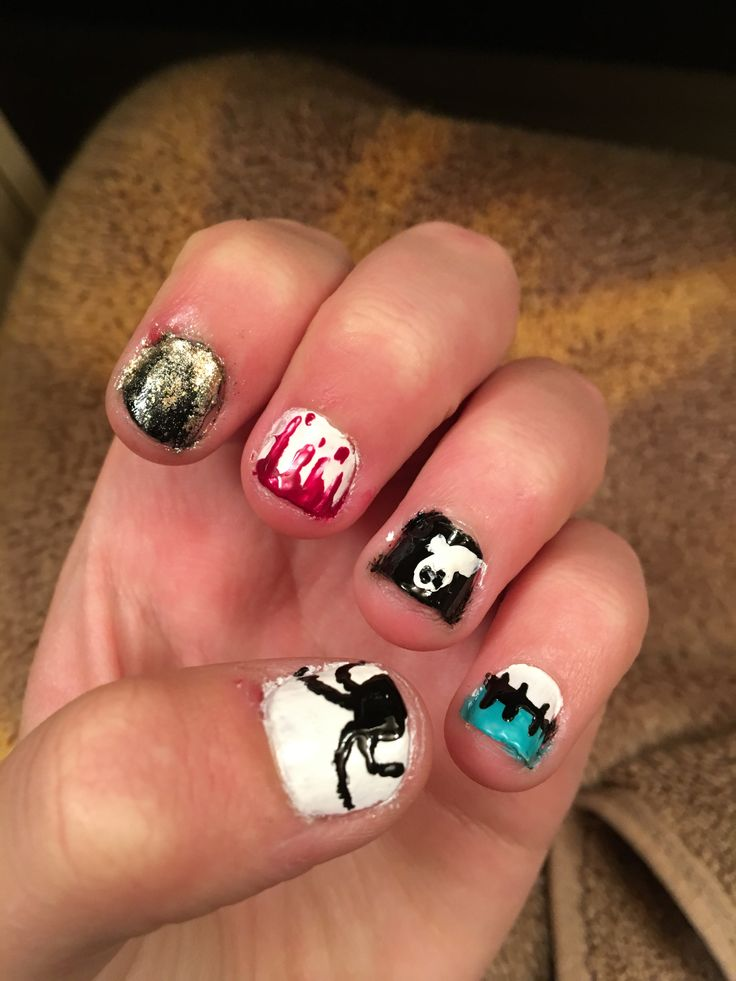 Very very easy | Halloween nails easy, Halloween nails ...