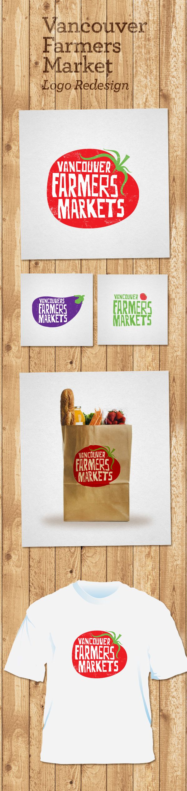 Vancouver Farmers Markets - logo redesign on Behance.