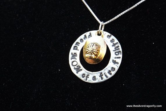 Firefighter mom Firefighter mom necklace by silverdragonfly260