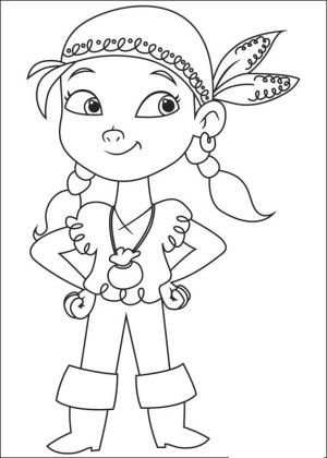 Jake and pirates coloring page 7