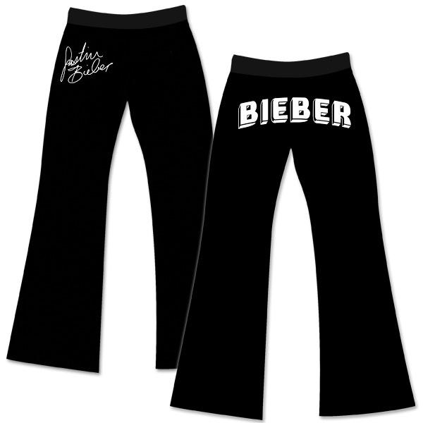 Justin Bieber Black Logo Sweatpants $40 http://justinbieber.shop.bravadousa.com/Product.aspx?cp=21965_41675&pc=BGAMJU06
