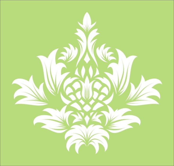 Wall Stencil flourish damask 2.2 design, image is approx 9.5 x 9 inches. $10.95, via Etsy.